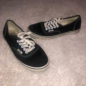 Vans size 7.0 Black tie up